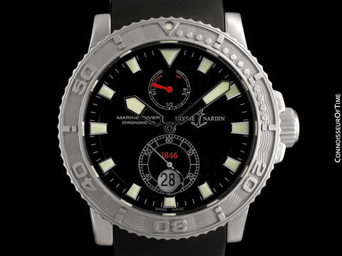 Ulysse Nardin Maxi Marine Diver Chronometer 1846 Automatic Mens Stainless Steel Watch - 263-55