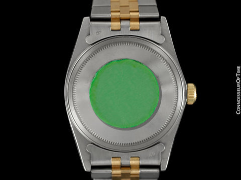 Rolex Datejust Two-Tone Mens Quick-Setting Date Watch - Stainless Steel, 18K Gold, Emeralds & Diamonds