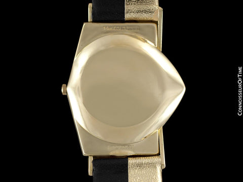 "1950's Hamilton Electric Ventura ""505"" Model Vintage Mens Assymetric Wristwatch - 14K Gold"