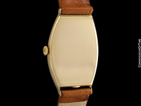 1920's Tiffany & Co. Vintage Art Deco Large Mens Watch - 18K Gold