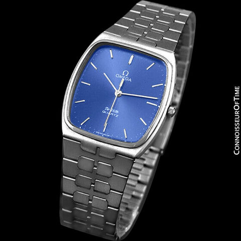 1981 Omega De Ville Classic Retro Mens Accuset Watch, Quick-Setting Hour - Stainless Steel