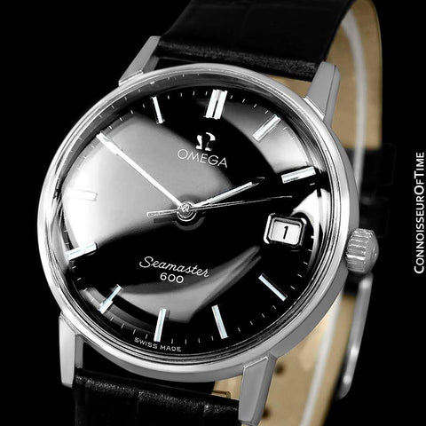 1965 Omega Seamaster 600 Vintage Mens Handwound Watch - Stainless Steel