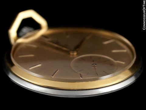 1960 Rolex Precision Vintage Antique Mens Pocket Watch, 45mm - Stainless Steel & 18K Gold