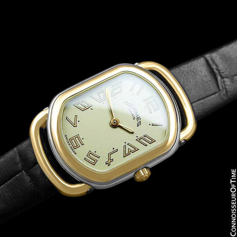 Hermes Rallye Ladies Watch - 18K Gold Plated & Stainless Steel