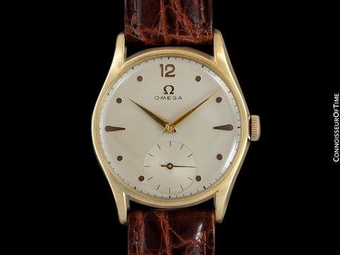 1950 Omega Vintage Mens 30T2 Based Dress Watch - 14K Solid Gold
