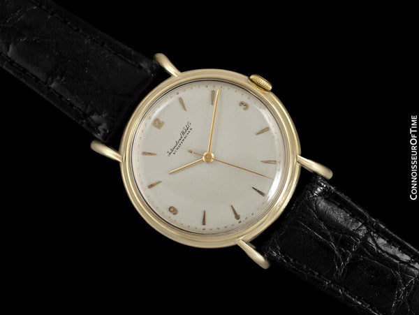 1947 IWC Vintage Mens Large Handwound Dress Watch, Caliber 60 - 18K Gold