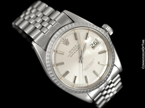 1968 Rolex Datejust Classic Vintage Mens Stainless Steel Watch - Original Papers, Boxes & Tag