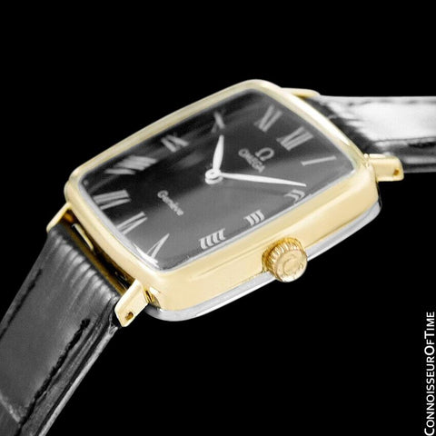1973 Omega Geneve Vintage Midsize Handwound Ultra Slim Watch - 18K Gold Plated