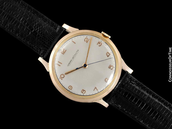 1950 Jaeger-LeCoultre Vintage Mens Handwound Watch - 18K Rose Gold