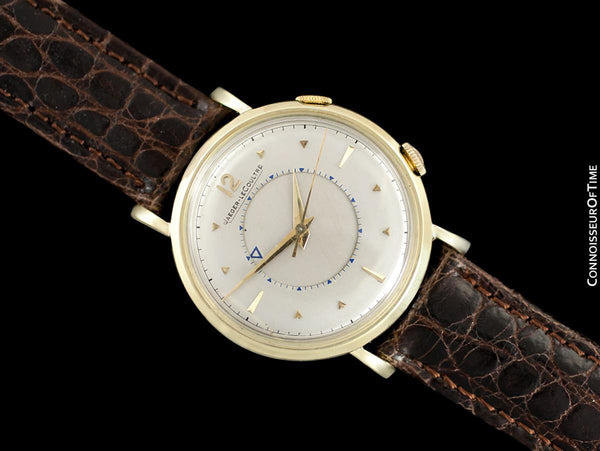 Jaeger-LeCoultre Memovox Mens Alarm Reveil Watch - Solid 14K Gold & Stainless Steel