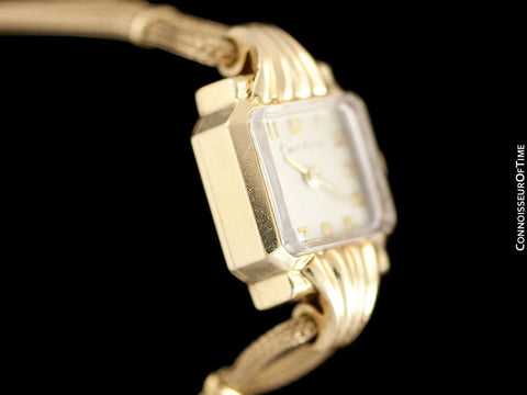 1940's Cartier Vintage Classic Ladies Handwound Watch - 14K Gold