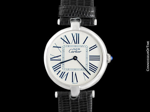Must De Cartier Vendome Mens Midsize Unisex Watch - Sterling Silver