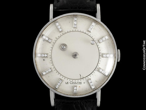1957 Jaeger-LeCoultre / Vacheron & Constantin Vintage Galaxy Mystery Dial - 14K White Gold & Diamonds - Box & Tag