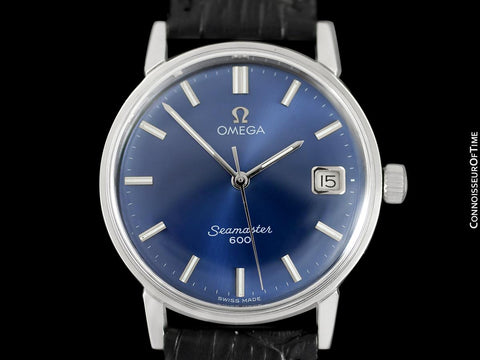 1967 Omega Seamaster 600 Vintage Mens Handwound Watch - Stainless Steel
