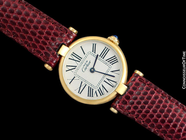 Must De Cartier Vendome Ladies Vermeil Watch - 18K Gold Over Sterling Silver