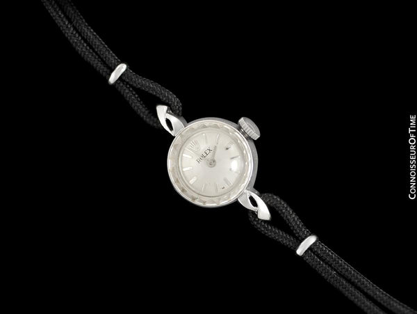 1960's Rolex Vintage Ladies Dress Watch - 14K White Gold
