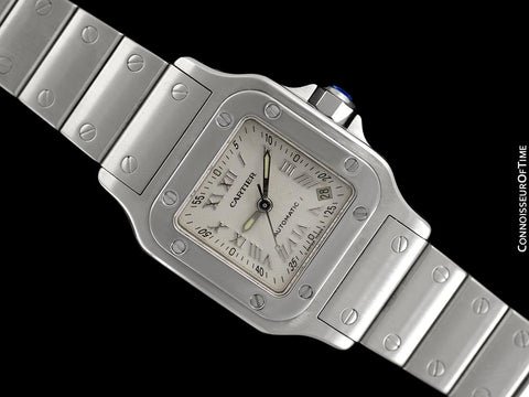 Cartier Santos Ladies Automatic Watch with Date - Stainless Steel