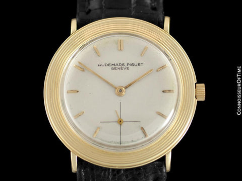 1950's Audemars Piguet Vintage Mens Midsize Size Dress Watch - 18K Gold