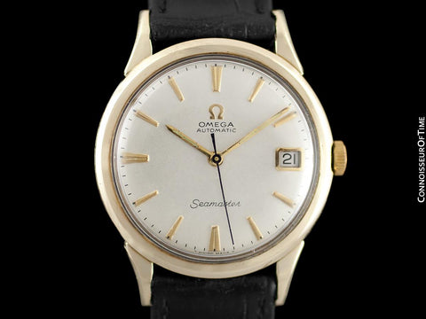 1966 Omega Seamaster Extremely Rare Cal. 560 Vintage Mens Watch, Automatic, Date - 10K Gold Filled & Stainless Steel