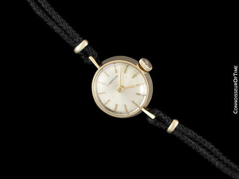 1960's Cartier Vintage Classic Ladies Handwound Watch - 18K Gold