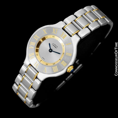 Cartier Must De 21C Ladies Watch - Stainless Steel & 18K Gold