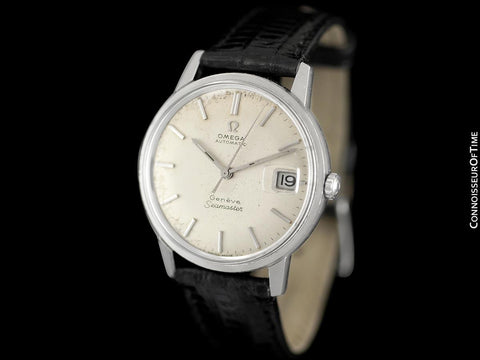 1968 Omega Seamaster Geneve Mens Vintage Watch with 565 Movement, Double Signed Version - Stainless Steel