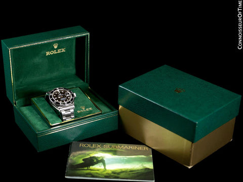 "1987 Rolex Submariner ""Triple Zero"" Vintage Mens Ref. 168000 Stainless Steel Watch - Boxes & Booklet"