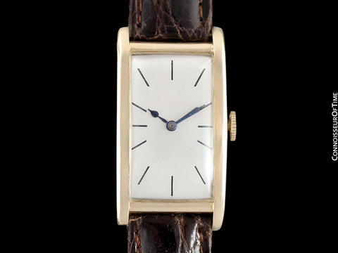 1927 IWC Vintage Art Deco Long 42mm Mens Wristwatch - 14K Gold