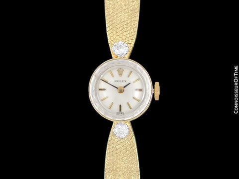 1970's Rolex Vintage Ladies Ladies Watch - 14K Gold & Diamonds