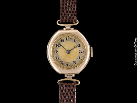 1920's Rolex Ladies Vintage Art Deco Watch - 9K Rose Gold