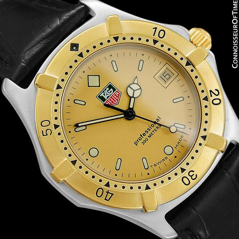 TAG Heuer Professional 2000 Mens Full Size Divers Watch - Stainless Steel & 18K Gold Plated