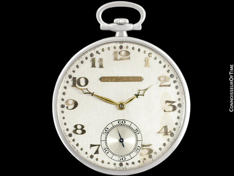 1920's Audemars Piguet Tiffany & Co. Antique Art Deco Ultra Thin Mens Pocket Watch - Platinum