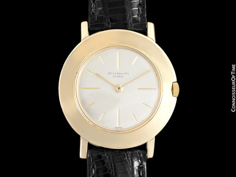 1951 Patek Philippe Vintage Mens Handwound Watch, Ref. 2594 - 18K Gold