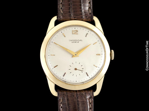 1947 Universal Geneve Vintage Mens Full Size Dress Watch - 18K Gold