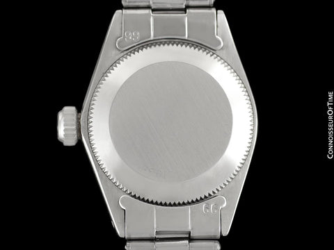 1965 Rolex Classic Vintage Ladies Date Datejust Watch, Black Dial - Stainless Steel & 18K White Gold