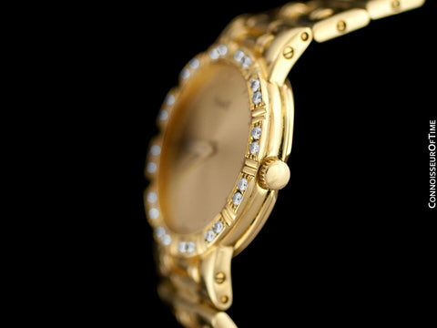 Piaget Dancer Ladies Bracelet Watch - 18K Gold & Original Factory Piaget Diamonds