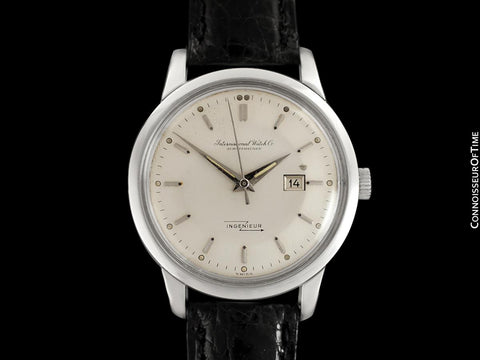 1958 IWC Ingenieur Vintage Mens Watch with Date Ref. 666 AD - Stainless Steel