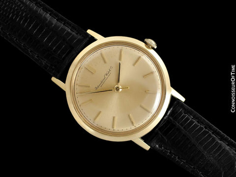 1966 IWC Vintage Mens Classic Dress Watch, Caliber 402 - 18K Gold
