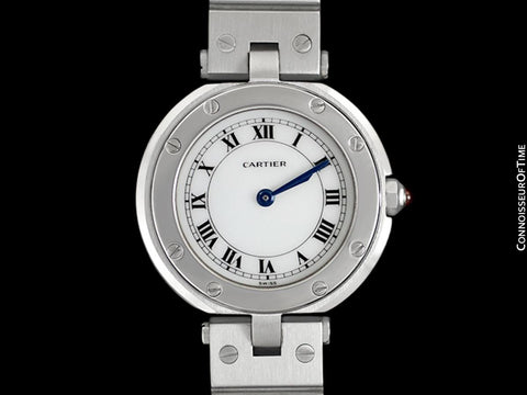 Cartier Santos Vendome Ladies Quartz Bracelet Watch - Stainless Steel