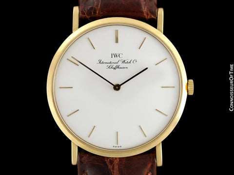 IWC Portofino Vintage Mens Thin Handwound Watch - 18K Gold
