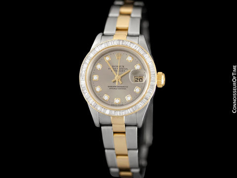 Rolex Ladies 2-Tone Datejust, 79163 - 18K Gold, Stainless Steel & Over 2 Carats of Diamonds