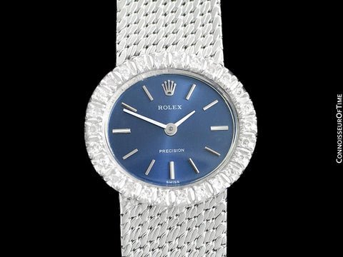 1972 Rolex Ladies Vintage Dress Bracelet Watch - Stainless Steel & Diamonds