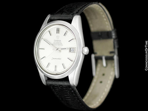 1974 Omega Seamaster Chronometer Vintage Mens Cal. 1011 Stainless Steel Watch - Near New-Old-Stock