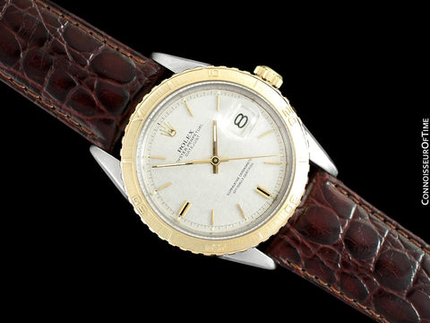 1966 Rolex Vintage Turn-O-Graph Thunderbird Datejust Mens Watch, 1625 - Stainless Steel & 18K Gold