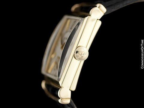 1944 Jaeger-LeCoultre Vintage Mens Art Deco Dress Watch - 14K Gold