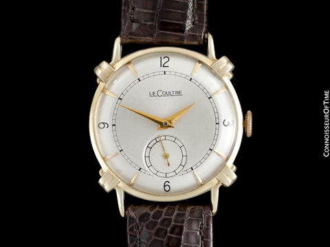 1948 Jaeger-LeCoultre Vintage Mens Midsize Watch, Beautiful Case - 14K Gold