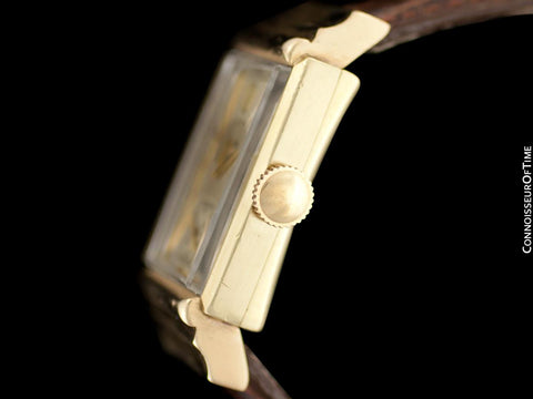 1943 Jaeger-LeCoultre Vintage Mens Art Deco Dress Watch - 14K Gold