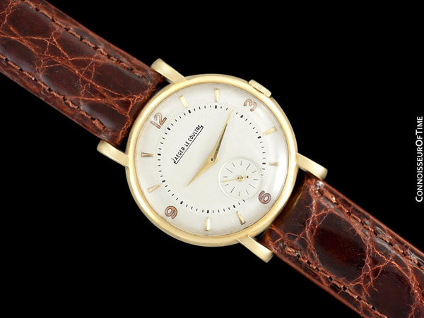1947 Jeager-LeCoultre Vintage Mens Classic Antimagnetic Watch - 18K Gold