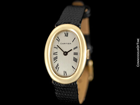 "Cartier ""Baignoire 1920"" Ladies Vintage Handwound Watch - 18K Gold"