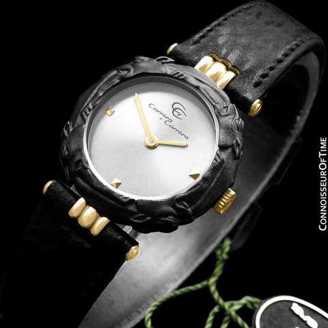 Carrera y Carrera Ladies Leopard 18K Gold & Sculptured Titanium Watch - Like New Old Stock
